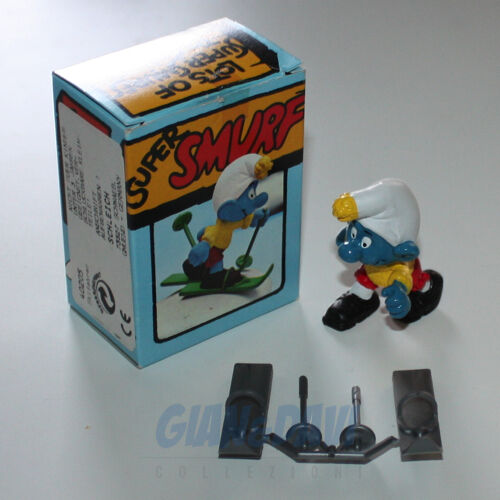 PUFFO PUFFI SMURF SMURFS SCHTROUMPF 4.0205 40205 Skier Sciatore Box 2A