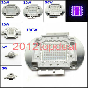 High Power LED Chip beads 3W 5W 10W 20W 30W 50W 100W Ultra violet UV 395nm 400nm