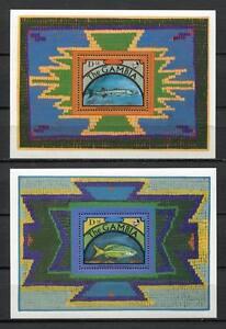 27773) Gambia 1991 MNH New Fish S/S BFx2
