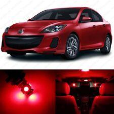 6 x Brilliant Red LED Interior Lights Package For 2010 - 2013 Mazda 3 MS3 Sedan