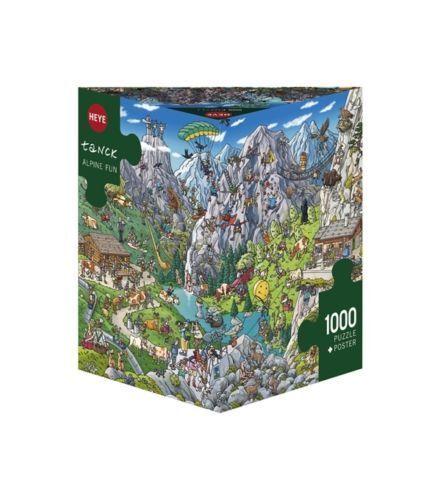 Heye Puzzles - Triangular , 1000 Pc - Alpine Fun, Tanck - HY29680