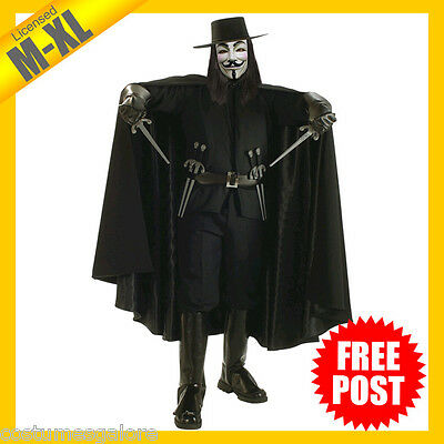 RD 56198 Mens Costume Fancy Dress Licensed V for Vendetta Collectors Edition