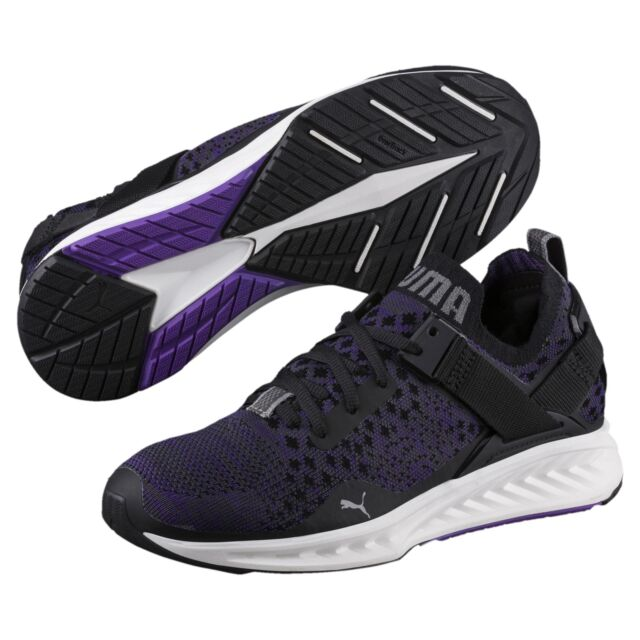 Puma Ignite Evoknit Low Wns Black Purple Women Running Shoes ... c3e7130430c