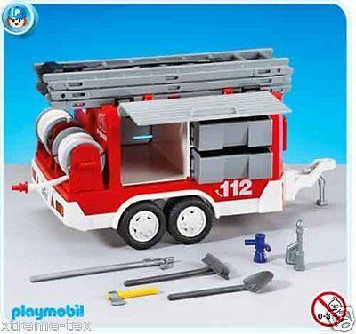 Folienverpackung Feuerwehr-Anhänger NEU /& OVP PLAYMOBIL® 7485 City Action