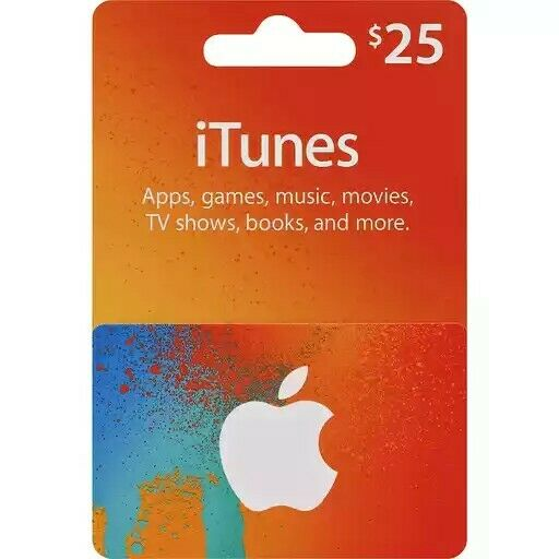 $25 iTunes Gift Card USA [PHYSICAL GIFT CARD]