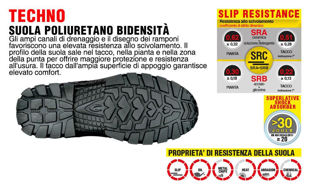 Scarpe Antinfortunistiche COFRA linea TECHNO BASIC modello NEW TAMIGI S1 P SRC pelle stampata NT110 000
