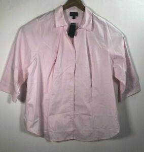 NWT-Lane-Bryant-Women-s-Size-24-Button-Front-Shirt-Dress-Shirt-3-4-Sleeve