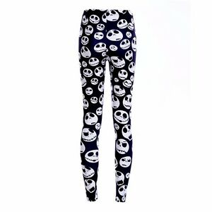 NIGHTMARE BEFORE CHRISTMAS Polyester Spandex Leggings OSFM Adults ...