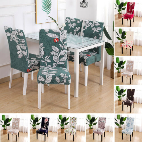 Removable Stretch Chair Covers Slipcovers Dining Room Stool Seat Cover Decor HOT