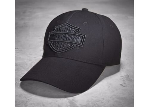 Harley Davidson Mens Phantom Logo Baseball Style Cap Black