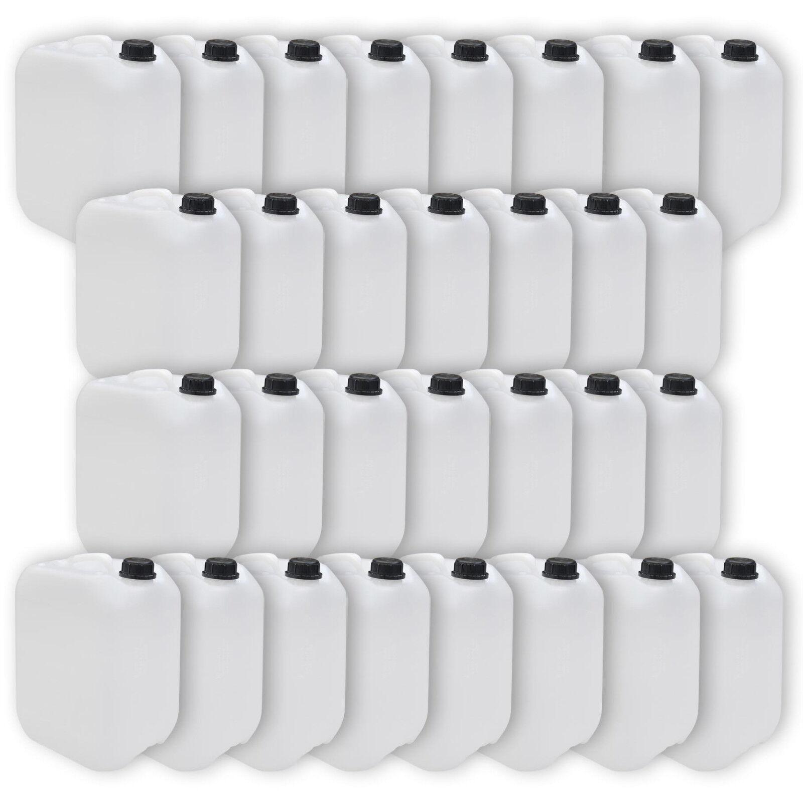 30er Pack Kanister 10 Liter DIN 45  Trinkwasserkanister  natur  lebensmittelecht