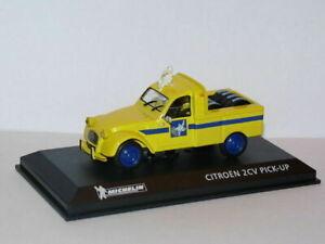 MICH2U-voiture-1-43-IXO-altaya-MICHELIN-CITROEN-2CV-pick-up-pneus