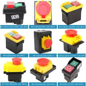 1PCS arrêt d/'urgence Bouton Poussoir Box 10 A 66x66x81mm Rouge Sign Switch Waterproof