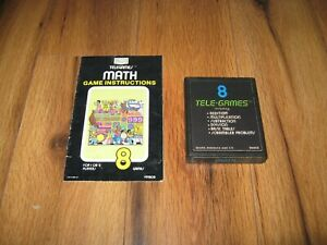 Details about Sears 8 Tele-Games Math Atari 2600 Game Vintage Instructions  Manual Untested