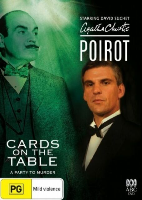 Agatha Christie - Poirot - Cards On The Table (DVD, 2006)