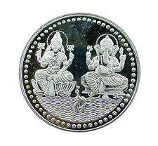 10 Grams Pure 999 Hallmarked Ganesh Lakshmi Ji Silver Coin for Investment/Gift