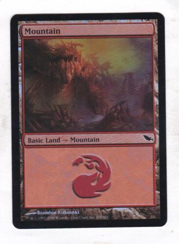Shadowmoor Magic MTG Foil Mountain #295