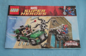 Lego 76004 Marvel Super Heroes Spider Man Spider Cycle Chase Instruction Manual Ebay