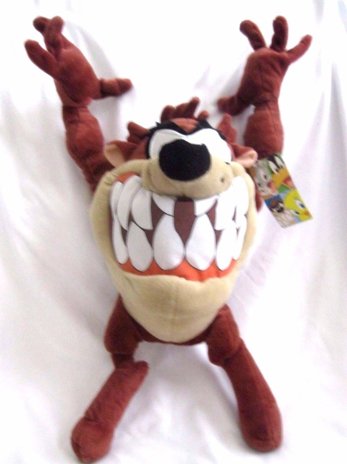 Tazmanian Devil Taz Looney Tunes Mighty Star 20  Stuffed Toy Warner Bros-New