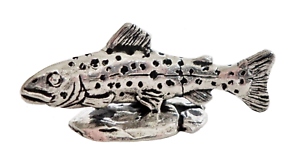 Brown Trout Pewter Ornament Hand Made in Cornwall