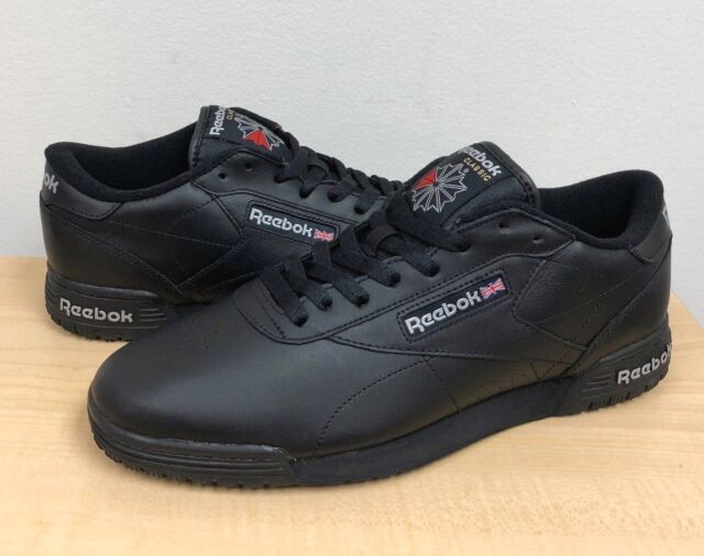 Ar3168 Men s Reebok Classic EXO Fit Lo Clean INT Black Leather Size ... 38481d1d9