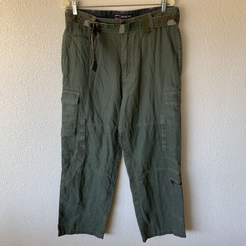 Vintage Bugle Boy Camo Military Pants W/belt