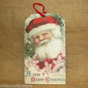 A-Very-Merry-Christmas-Vintage-Santa-Wood-Hang-Tag-20-034-x-11-034-Primitives-by-Kathy