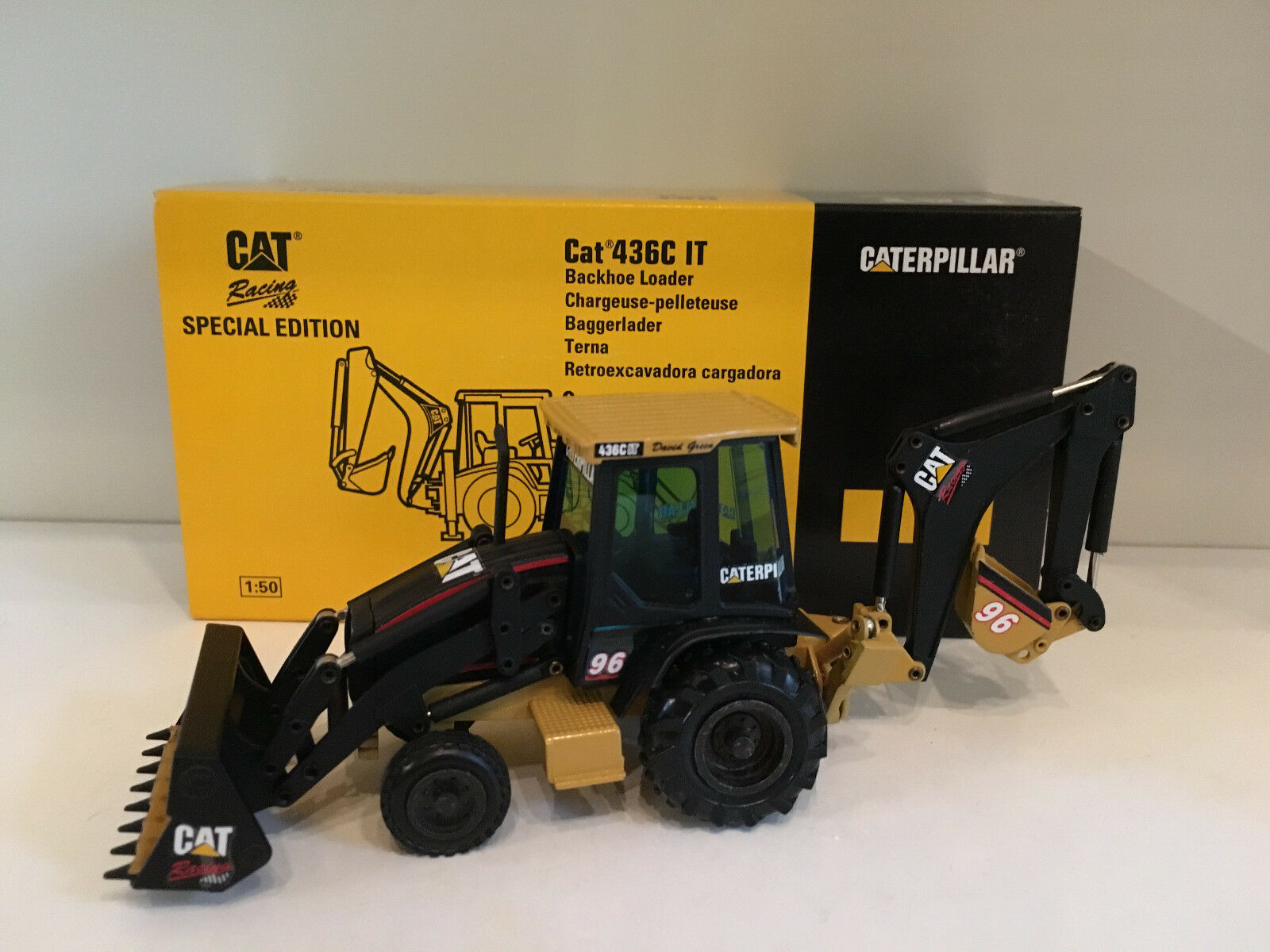 Caterpillar 436 C IT chargeuses-pelleteuses Racing Edition de NZG 429 01 1 50 Neuf Dans Sa Boîte