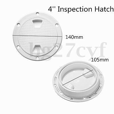 4'' Screw Out ABS White Round Deck Plate Inspection Hatch Marine Boat Access