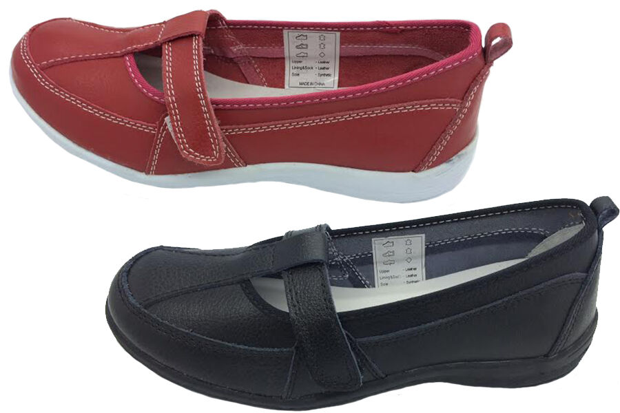 Ladies shoes Cherry Port Black or Red Leather Casual work shoes New Size 5-10