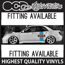 MARTINI STRIPE / SIDE STRIPE GRAPHICS DECALS STICKER KIT RALLY DRIFT RACE