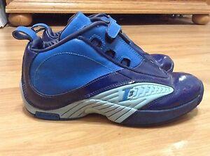 5c61d6d6779f Men s Reebok Allen Iverson I3 The Answer Basketball Shoes Blue Size ...