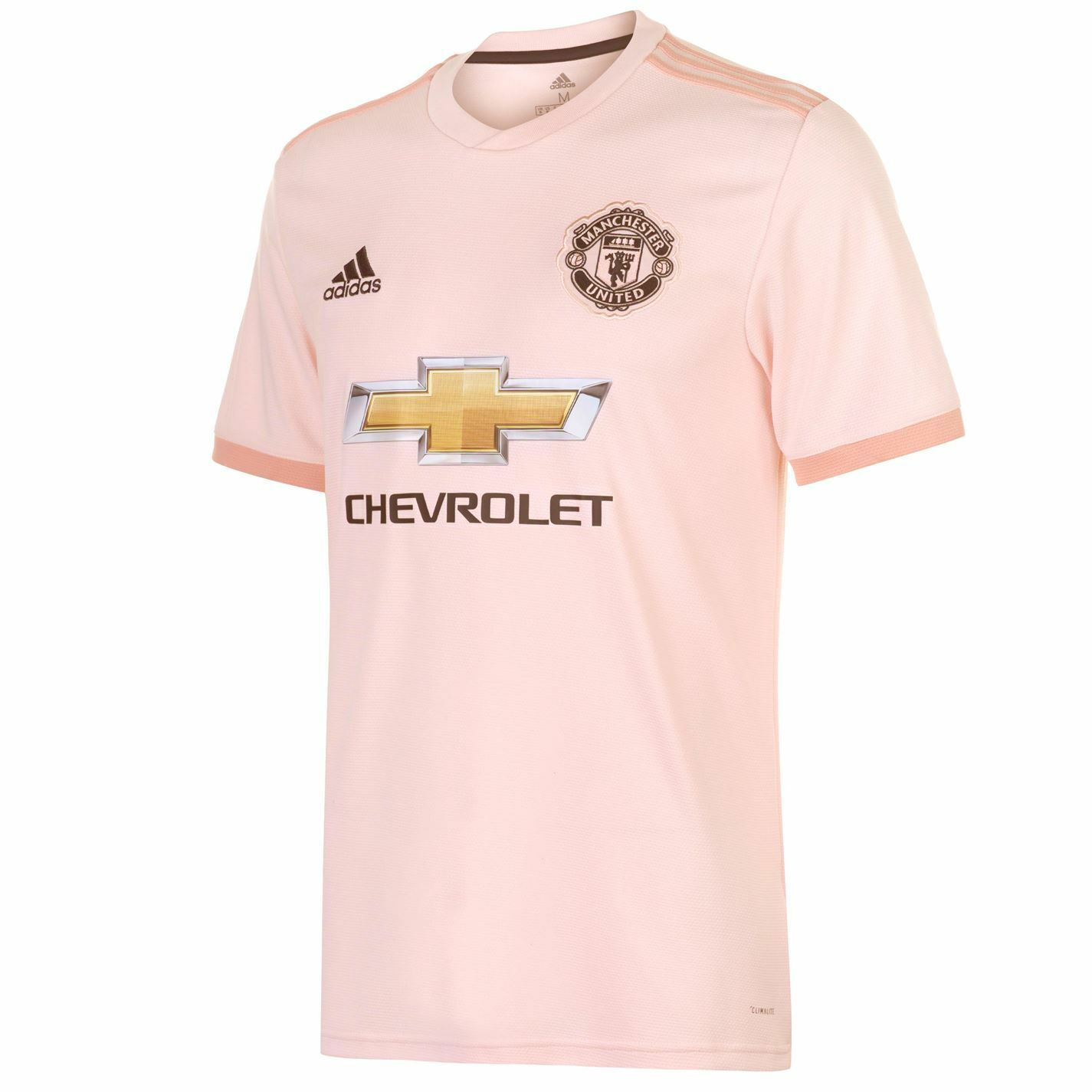 Adidas Mens Manchester United Away Shirt 2018 2019 Domestic Short Sleeve Round