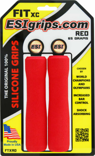 ESI FIT XC Grips 130mm Length Made in USA Ergonomic Round Profile 65g Weight