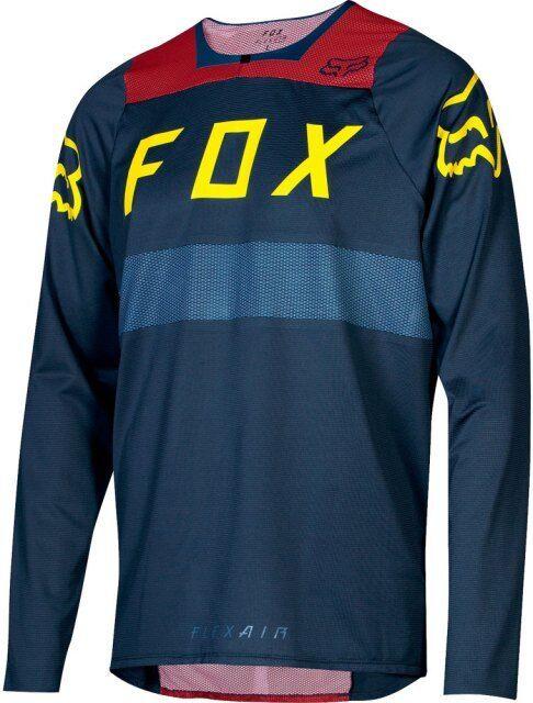 Fox Flexair JERSEY FA18 MEZZANOTTEuomoica Lunga MOUNTAIN BIKE MTB Enduro