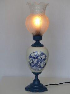 Lampe-porcelaine-ancienne-Vintage-1950