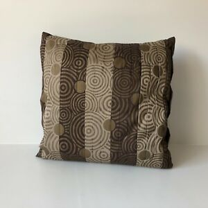Pier 1 Imports Decorative Pillow Brown With Gold Print 16 Sq
