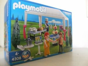 playmobil wedding guests with party tent 43082008 new