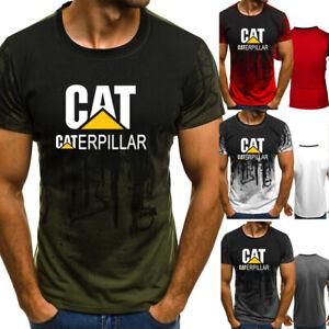 Caterpillar-Logo-T-shirt-Men-CAT-TM-Leisure-Short-Sleeve-Tee-Shirts-Top-Workwear