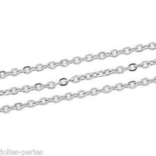 """JP 10M Silver Tone Cable Link-Soldered Chain Findings 2mm(1/8"""")x1.5mm"""