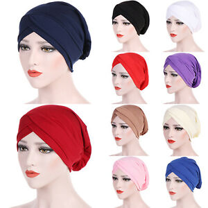 ec8138a75631a ... Femmes-Chimio-Cancer-Musulmane-Hijab-Elastique-Turban-Casquette-