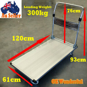 300kg-Aluminium-Folding-Heavy-Duty-Platform-Trolley-Hand-Truck-Foldable-Cart