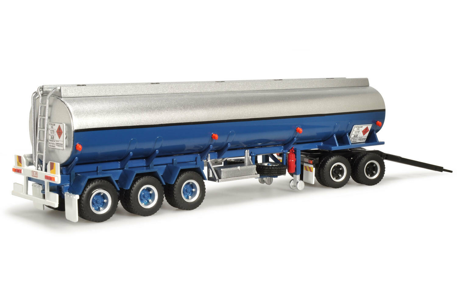 Highway Replicas 1 64 scale Tanker Trailer with Dolly (blu with stripes)