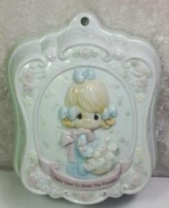 Precious-Moments-Wall-Art-Sculpture-Take-Time-to-Smell-the-Flowers-1994-Enesco