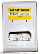 Super Power AA AAA Ni-MH Ni-Cd 9V Rechargeable Battery Quick Cell Charger Batter
