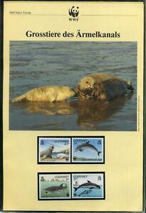 Guernsey-1990-WWF-komplettes-Kapitel-postfrisch-MK-FDC-Meerestiere-WW181