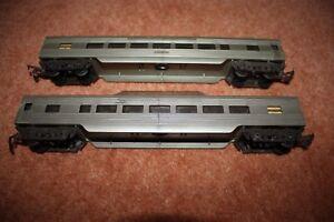 2 Triang Transcontinental R24/25 Silver Observation & Standard Coach Oo Gauge Facile à RéParer