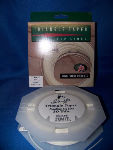 Royal Wulff Bass Triangle Taper Fly Line WF-6 Thru WF-10 Ivory or Olive Floating