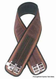 EquiRoyal-Dark-Brown-English-Neoprene-Girth-52-034-Horse-Tack-Equine