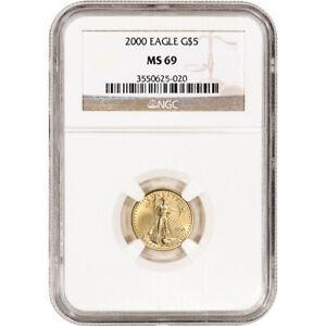 2000 American Gold Eagle (1/10 oz) $5 - NGC MS69